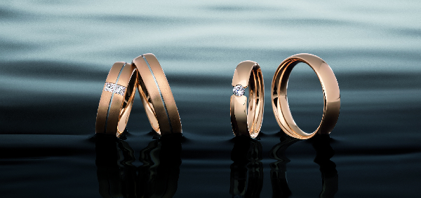 Wedding Rings in Platinum Gold and White Gold