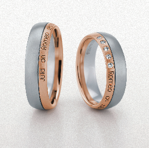 Laser Engraved Wedding Rings